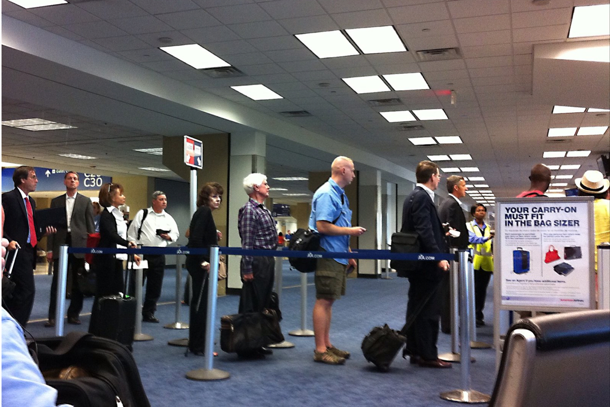 Airport Passengers Line